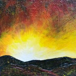 sunset, 10 x 8 inch, sneha petkar,10x8inch,canvas,paintings,abstract paintings,nature paintings   scenery paintings,paintings for dining room,paintings for living room,paintings for bedroom,paintings for office,paintings for hotel,paintings for hospital,acrylic color,GAL02902141221