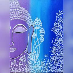 buddha at peace, 14 x 16 inch, bismita aruk,14x16inch,canvas,buddha paintings,paintings for living room,paintings for bedroom,paintings for office,paintings for kids room,paintings for hotel,paintings for school,paintings for hospital,paintings for living room,paintings for bedroom,paintings for office,paintings for kids room,paintings for hotel,paintings for school,paintings for hospital,acrylic color,GAL02917941224