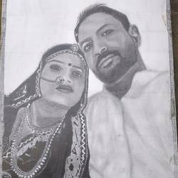 pencil sketch, 8 x 11 inch, anju verma,8x11inch,ivory sheet,drawings,portrait drawings,paper,GAL02860841254