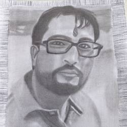 pencil sketch, 8 x 11 inch, anju verma,8x11inch,ivory sheet,drawings,portrait drawings,paper,GAL02860841256