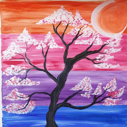 tree of life, 18 x 30 inch, rony sinha,18x30inch,canvas,portrait paintings,acrylic color,GAL01225741261