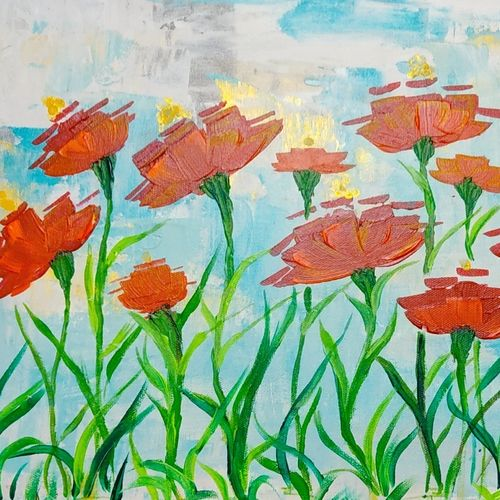 blossom, 16 x 12 inch, rupal chaturvedi,16x12inch,canvas,paintings,abstract paintings,flower paintings,paintings for dining room,paintings for living room,paintings for bedroom,paintings for office,paintings for bathroom,acrylic color,GAL02907641268