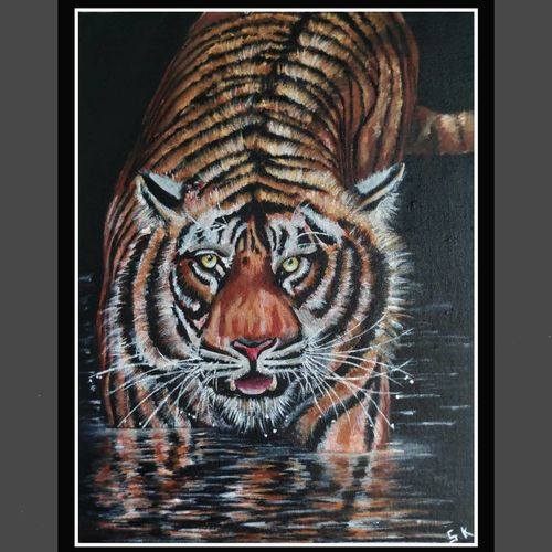 the brave heart, 12 x 16 inch, smita kakati,12x16inch,canvas,paintings,wildlife paintings,acrylic color,GAL02922441298