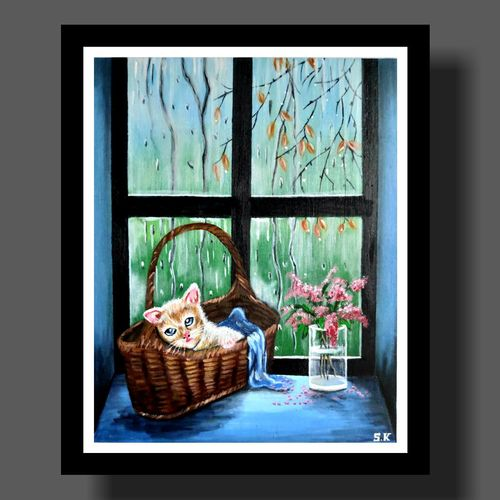 showery gratifying, 10 x 12 inch, smita kakati,10x12inch,canvas,paintings,still life paintings,acrylic color,GAL02922441302