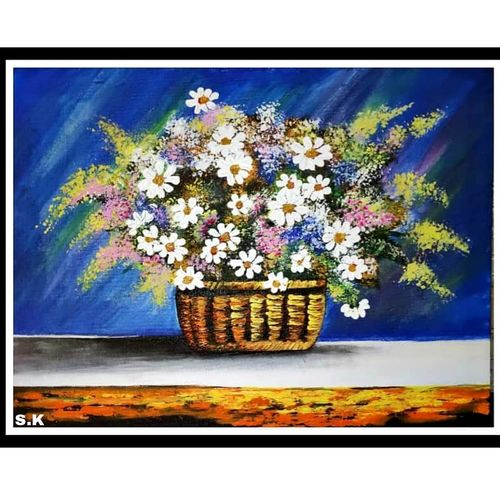 blossoms, 16 x 12 inch, smita kakati,16x12inch,canvas,paintings,flower paintings,acrylic color,GAL02922441305