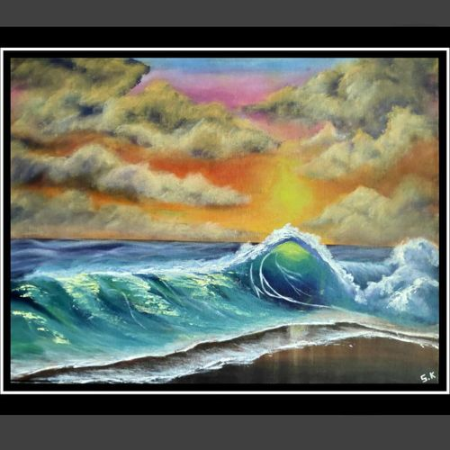 vibes in the tides, 15 x 12 inch, smita kakati,15x12inch,canvas,paintings,abstract paintings,wildlife paintings,nature paintings | scenery paintings,acrylic color,fabric,GAL02922441306