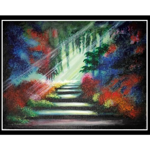 way to heaven, 16 x 12 inch, smita kakati,16x12inch,canvas,paintings,abstract paintings,wildlife paintings,conceptual paintings,still life paintings,nature paintings   scenery paintings,acrylic color,fabric,GAL02922441309