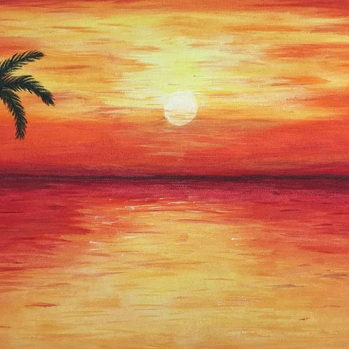 sunrise, 22 x 12 inch, akanksha p,22x12inch,canvas,paintings,landscape paintings,paintings for dining room,paintings for living room,paintings for bedroom,paintings for office,paintings for bathroom,paintings for kids room,paintings for hotel,paintings for kitchen,paintings for school,paintings for hospital,acrylic color,GAL02908341314
