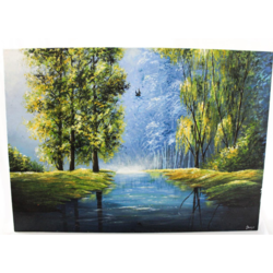 serene reflections, 28 x 20 inch, shriya mehta,28x20inch,canvas,paintings,landscape paintings,nature paintings | scenery paintings,paintings for dining room,paintings for living room,paintings for bedroom,paintings for office,paintings for kids room,paintings for hotel,paintings for school,acrylic color,GAL02919241320