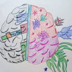 brain surgery art, 28 x 35 inch, shwetha sharma,28x35inch,thick paper,drawings,fine art drawings,mixed media,pen color,pencil color,poster color,paper,GAL02923541325