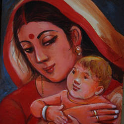 mother india, 12 x 16 inch, soumen das,12x16inch,canvas,paintings,abstract paintings,acrylic color,GAL02253141345