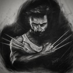wolverine, 10 x 7 inch, mahesh k,10x7inch,thick paper,drawings,photorealism drawings,portrait drawings,realism drawings,paintings for dining room,paintings for living room,paintings for bedroom,paintings for office,paintings for kids room,paintings for hotel,charcoal,GAL02924941363