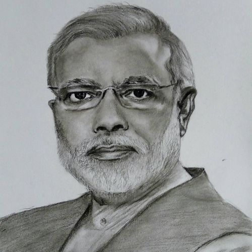 narendra modi, 10 x 6 inch, mahesh sagar k,10x6inch,thick paper,drawings,illustration drawings,photorealism drawings,portrait drawings,realism drawings,paintings for dining room,paintings for living room,paintings for bedroom,paintings for office,paintings for kids room,paintings for hotel,paintings for school,paintings for hospital,charcoal,GAL02924941366