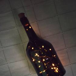 glass bottle with led lights, 5 x 10 inch, soundharya murugesan,5x10inch,acrylic glass,handicrafts,vases,glass,GAL02671141387