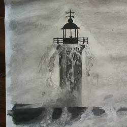 the lighthouse, 11 x 14 inch, chetan mahapatra,11x14inch,paper,paintings,landscape paintings,nature paintings | scenery paintings,paintings for dining room,paintings for living room,paintings for bedroom,paintings for office,paintings for hotel,paintings for school,paintings for hospital,paintings for dining room,paintings for living room,paintings for bedroom,paintings for office,paintings for hotel,paintings for school,paintings for hospital,watercolor,GAL02700841389