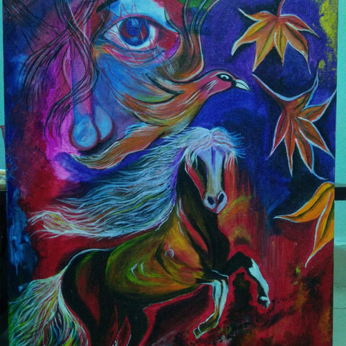 running horse , 16 x 20 inch, shashi jaiswal,16x20inch,canvas,paintings,animal paintings,horse paintings,paintings for dining room,paintings for living room,paintings for bedroom,paintings for office,paintings for kids room,paintings for hotel,acrylic color,GAL02930541409