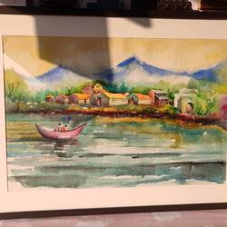accidents of colors, 28 x 26 inch, pranita  ghode,28x26inch,renaissance watercolor paper,paintings,landscape paintings,watercolor,GAL02931041416