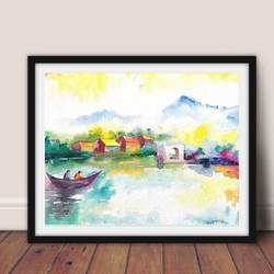 happy reflection of colors, 22 x 18 inch, pranita  ghode,22x18inch,renaissance watercolor paper,landscape paintings,watercolor,GAL02931041419