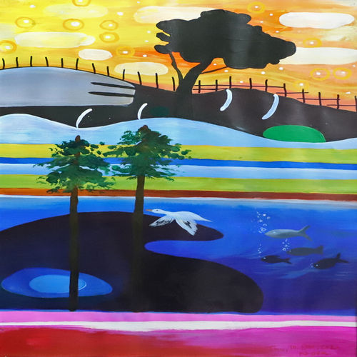 landscape 6, 18 x 28 inch, nakul chauhan,18x28inch,ivory sheet,paintings,abstract paintings,wildlife paintings,flower paintings,landscape paintings,modern art paintings,nature paintings | scenery paintings,abstract expressionism paintings,expressionism paintings,impressionist paintings,contemporary paintings,paintings for dining room,paintings for living room,paintings for bedroom,paintings for office,paintings for kids room,paintings for hotel,paintings for kitchen,acrylic color,GAL02931241431