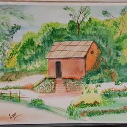 village, 12 x 10 inch, subhi agarwal ,12x10inch,canson paper,paintings for bedroom,paintings for kids room,paintings for school,fine art drawings,paintings for bedroom,paintings for kids room,paintings for school,watercolor,GAL02657941433