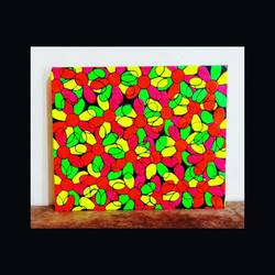 abstract in fluorescence colours, 12 x 10 inch, anjana powell,12x10inch,canvas,abstract paintings,acrylic color,fabric,GAL02138841451