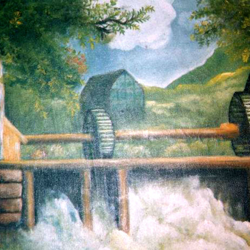 hydro floor mill, 24 x 18 inch, surindr pal singh,24x18inch,canvas,paintings,landscape paintings,paintings for dining room,paintings for living room,paintings for bedroom,paintings for office,paintings for kids room,paintings for hotel,paintings for school,paintings for hospital,oil color,GAL02932341458