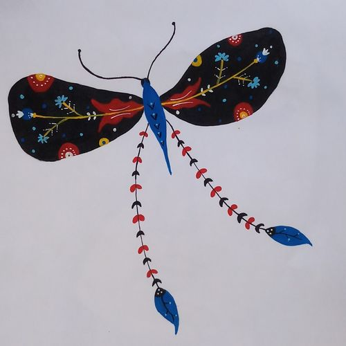 vibrant colour butterfly, 11 x 14 inch, gaurangi thakur,11x14inch,thick paper,paintings,wildlife paintings,paintings for dining room,paintings for living room,paintings for bedroom,paintings for office,paintings for kids room,paintings for hospital,acrylic color,paper,GAL02911341471