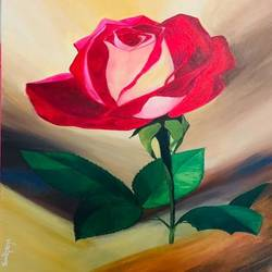 bloom with dignity, 18 x 24 inch, shruti priya,18x24inch,canvas,paintings,flower paintings,acrylic color,GAL02934441485