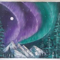 northern lights , 12 x 10 inch, sai amale ,12x10inch,canvas,paintings,landscape paintings,nature paintings | scenery paintings,paintings for dining room,paintings for living room,paintings for bedroom,paintings for office,paintings for hotel,paintings for kitchen,paintings for dining room,paintings for living room,paintings for bedroom,paintings for office,paintings for hotel,paintings for kitchen,acrylic color,GAL02904141505