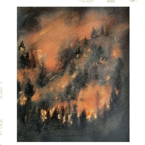 burning forest, 17 x 14 inch, vindhya acharya,17x14inch,canvas,paintings,landscape paintings,nature paintings | scenery paintings,expressionism paintings,photorealism,realism paintings,paintings for dining room,paintings for living room,paintings for bedroom,paintings for office,paintings for bathroom,paintings for kids room,paintings for hotel,paintings for kitchen,paintings for school,paintings for hospital,acrylic color,GAL02394641513