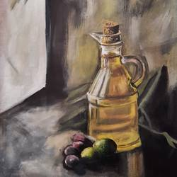 olive, 17 x 16 inch, vindhya acharya,17x16inch,canvas,paintings,still life paintings,paintings for dining room,paintings for living room,paintings for bedroom,paintings for office,paintings for kids room,paintings for hotel,paintings for kitchen,paintings for school,paintings for hospital,acrylic color,GAL02394641514
