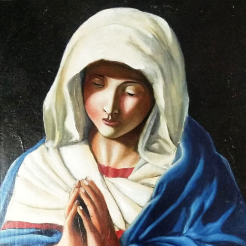 mary pray, 12 x 16 inch, chandan sharma,12x16inch,canvas,paintings,conceptual paintings,paintings for dining room,paintings for living room,paintings for bedroom,oil color,GAL02933041527