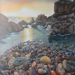 sea site, 25 x 34 inch, ila  singh,25x34inch,canvas,paintings,wildlife paintings,figurative paintings,landscape paintings,conceptual paintings,nature paintings | scenery paintings,impressionist paintings,photorealism paintings,photorealism,realism paintings,surrealism paintings,realistic paintings,paintings for dining room,paintings for living room,paintings for bedroom,paintings for office,paintings for kids room,paintings for hotel,paintings for school,paintings for hospital,oil color,GAL0795941536