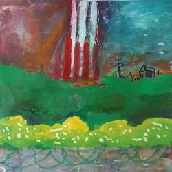 field after war, 12 x 16 inch, nakul chauhan,12x16inch,ivory sheet,paintings,abstract paintings,wildlife paintings,flower paintings,landscape paintings,modern art paintings,conceptual paintings,nature paintings | scenery paintings,abstract expressionism paintings,expressionism paintings,impressionist paintings,contemporary paintings,paintings for dining room,paintings for living room,paintings for bedroom,paintings for office,paintings for bathroom,paintings for kids room,paintings for hotel,paintings for kitchen,paintings for school,acrylic color,GAL02931241559