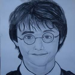 harry potter, 11 x 15 inch, ishwar manohar borse borse,11x15inch,paper,drawings,portrait drawings,graphite pencil,GAL02935641566