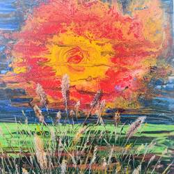 the end of autumn, 16 x 21 inch, sushmita banerjee,16x21inch,canvas board,paintings,abstract paintings,landscape paintings,nature paintings | scenery paintings,acrylic color,GAL02461941599