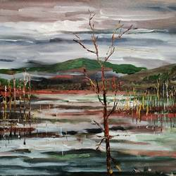 mystic marsh, 24 x 18 inch, sushmita banerjee,24x18inch,canvas,paintings,landscape paintings,acrylic color,GAL02461941600