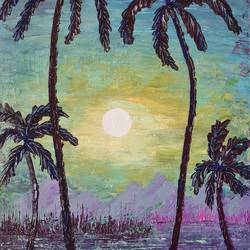 coconut palm night, 20 x 14 inch, esther sandhya a,20x14inch,canvas,paintings,abstract paintings,landscape paintings,modern art paintings,nature paintings | scenery paintings,art deco paintings,contemporary paintings,paintings for dining room,paintings for living room,paintings for bedroom,paintings for office,paintings for bathroom,paintings for kids room,paintings for hotel,paintings for kitchen,paintings for school,paintings for hospital,acrylic color,GAL0166341603
