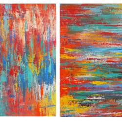 abstractly happy, 25 x 18 inch, debaditya sarkar,abstract paintings,paintings for office,canvas,acrylic color,25x18inch,GAL03964162