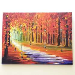 a prime fall scene, 18 x 24 inch, nidhi agarwal,18x24inch,canvas,paintings,landscape paintings,nature paintings | scenery paintings,paintings for dining room,paintings for office,paintings for bathroom,paintings for hotel,paintings for dining room,paintings for office,paintings for bathroom,paintings for hotel,acrylic color,GAL02941841622