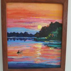 the setting sun .., 10 x 12 inch, nidhi agarwal,10x12inch,canvas,paintings,abstract paintings,nature paintings | scenery paintings,paintings for dining room,paintings for living room,paintings for office,paintings for bathroom,paintings for hotel,acrylic color,GAL02941841626