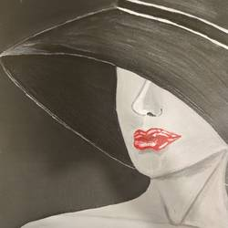 lady in black & white, 10 x 14 inch, kashmira jaorewalla,10x14inch,canvas,paintings,abstract paintings,modern art paintings,portrait paintings,contemporary paintings,paintings for dining room,paintings for living room,paintings for bedroom,paintings for kids room,paintings for hotel,acrylic color,GAL02909041647