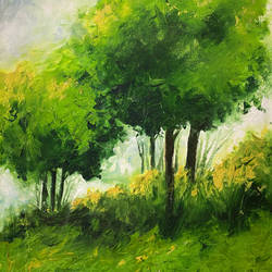 spring - 2, 26 x 35 inch, karuna mohindra,26x35inch,canvas,paintings,nature paintings | scenery paintings,oil color,GAL02932941658