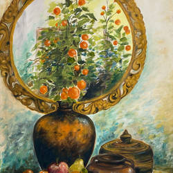 still life - 2, 28 x 37 inch, karuna mohindra,28x37inch,canvas,paintings,still life paintings,oil color,GAL02932941660