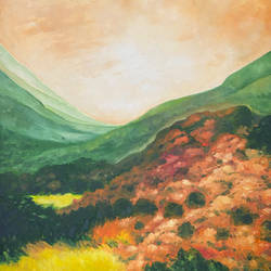 valley, 33 x 44 inch, karuna mohindra,33x44inch,canvas,paintings,portrait paintings,nature paintings | scenery paintings,oil color,GAL02932941661
