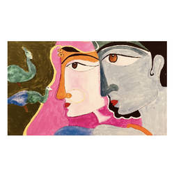 radha krishna , 22 x 19 inch, shiva  maharshi,22x19inch,canvas,paintings,abstract paintings,paintings for dining room,paintings for bedroom,paintings for hotel,acrylic color,GAL02944441679
