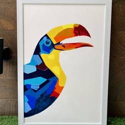 vibrant toucan , 24 x 36 inch, shradha agarwaal,24x36inch,canvas,paintings,abstract paintings,wildlife paintings,landscape paintings,modern art paintings,nature paintings | scenery paintings,art deco paintings,pop art paintings,animal paintings,contemporary paintings,paintings for dining room,paintings for living room,paintings for bedroom,paintings for office,paintings for bathroom,paintings for kids room,paintings for hotel,paintings for kitchen,paintings for school,paintings for hospital,acrylic color,mixed media,GAL02946241686