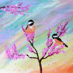 birds painting, 16 x 12 inch, veena nandavaram,16x12inch,canvas board,paintings,flower paintings,nature paintings | scenery paintings,animal paintings,love paintings,paintings for dining room,paintings for living room,paintings for bedroom,paintings for office,paintings for kids room,paintings for hotel,paintings for kitchen,paintings for school,paintings for hospital,acrylic color,GAL02687041694