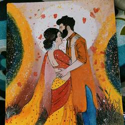love couple, 8 x 10 inch, priya  verma,8x10inch,canvas,paintings,love paintings,paintings for living room,paintings for bedroom,oil color,GAL02889441709