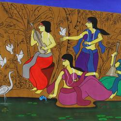 buddies, 45 x 23 inch, chetan katigar,45x23inch,canvas,paintings,abstract paintings,buddha paintings,wildlife paintings,figurative paintings,folk art paintings,landscape paintings,modern art paintings,multi piece paintings,conceptual paintings,religious paintings,nature paintings | scenery paintings,abstract expressionism paintings,art deco paintings,cubism paintings,expressionism paintings,impressionist paintings,photorealism,realism paintings,radha krishna paintings,contemporary paintings,love paintings,horse paintings,lord shiva paintings,kerala murals painting,paintings for dining room,paintings for living room,paintings for bedroom,paintings for office,paintings for bathroom,paintings for kids room,paintings for hotel,paintings for kitchen,paintings for school,paintings for hospital,acrylic color,GAL026641717
